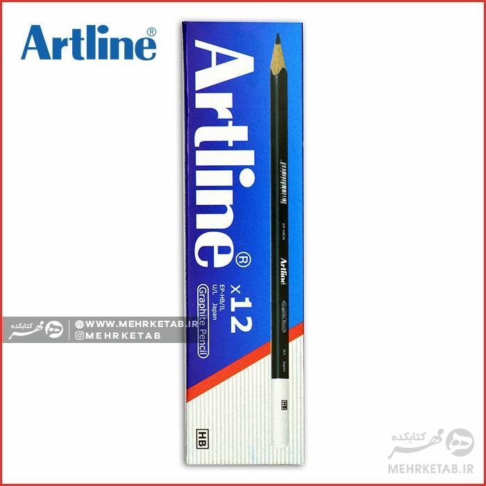 مداد مشکی تحریر آرت لاین Artline Graphite Pencil HB - رنگ ...