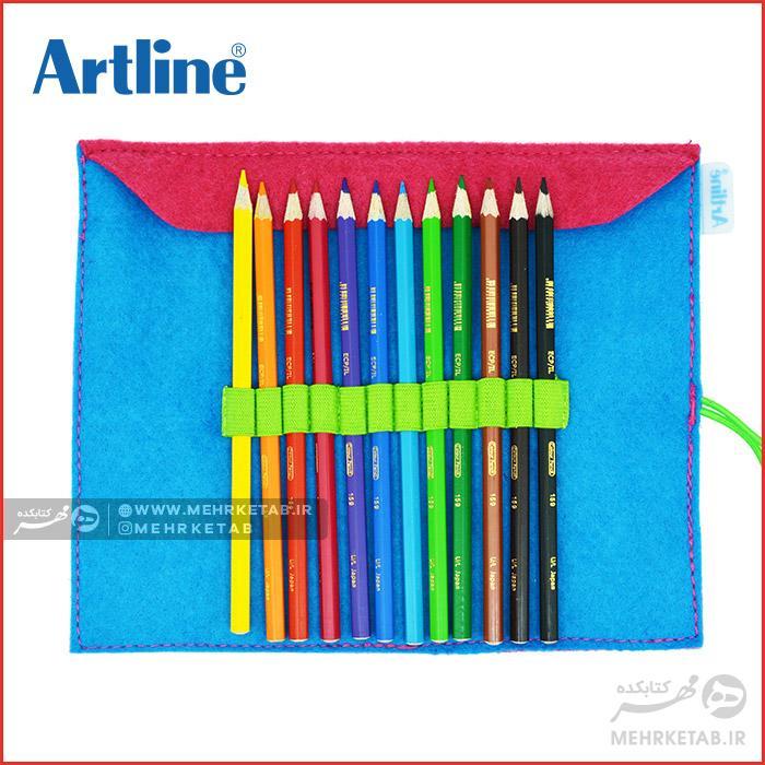 الگو جا مدادی نمدی مداد رنگی ۱۲ رنگ آرتلاین با جامدادی نمدی - رنگ آمیزی ...